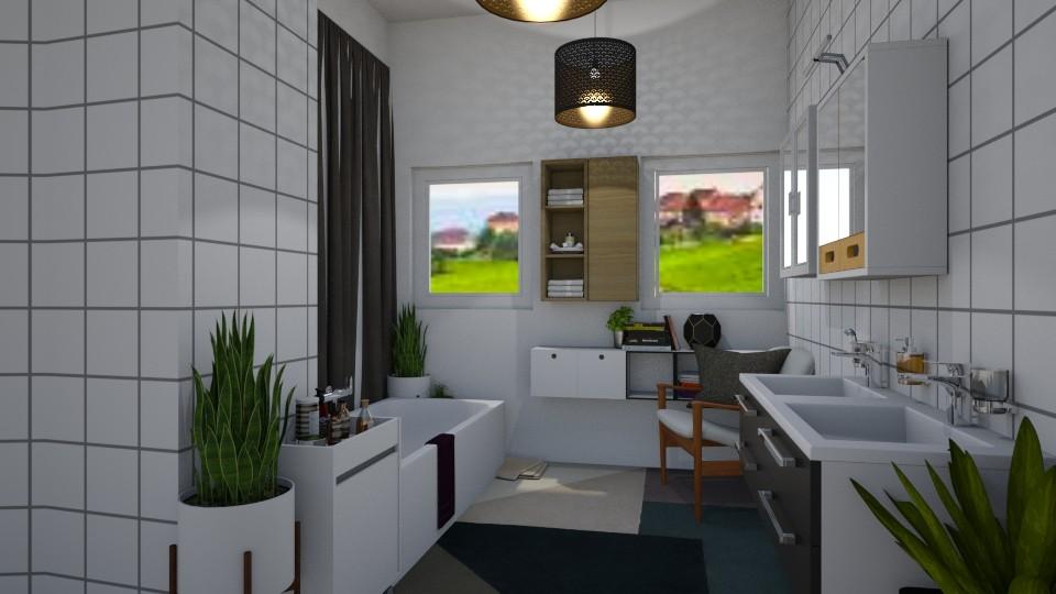Small Bath 1 - Modern - Bathroom - by Isaacarchitect