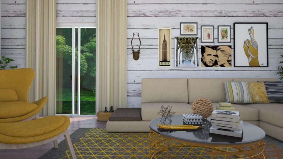 room yellow  - Living room - by Tainaraa