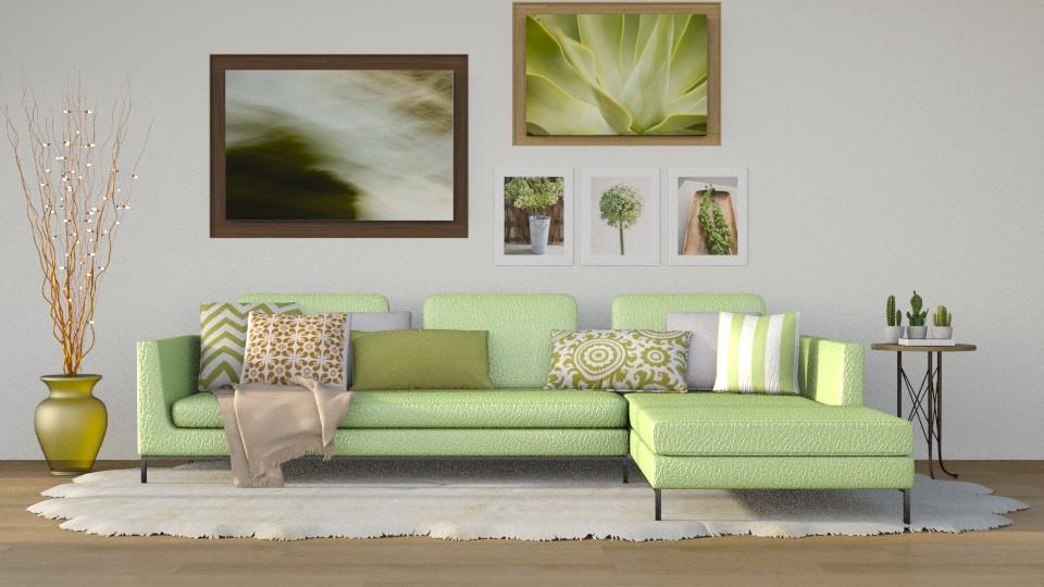 Lemon Lime - Modern - Living room - by millerfam
