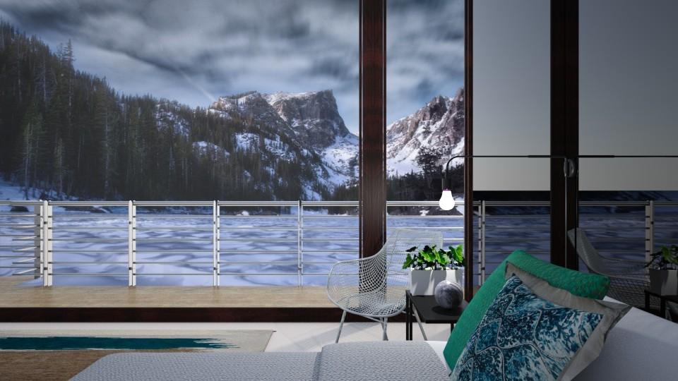 Boathouse On Ice - Minimal - Bedroom - by JoycePotato