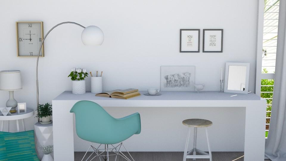 White desk - by marleinxs