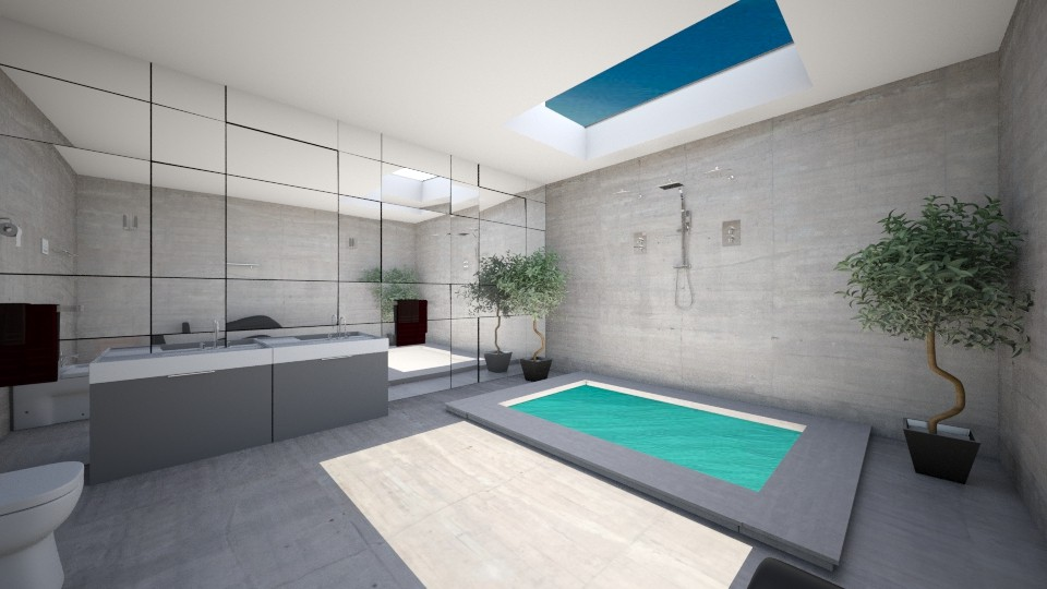 bathroom with skylight - Bathroom - by rebsrebsmmg
