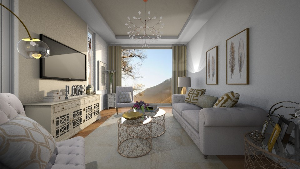 Rose Gold - Glamour - Living room - by Rose Hdz