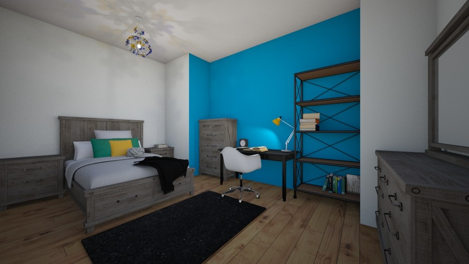 teen room in blue and yel - Classic - Bedroom - by JarvisMe