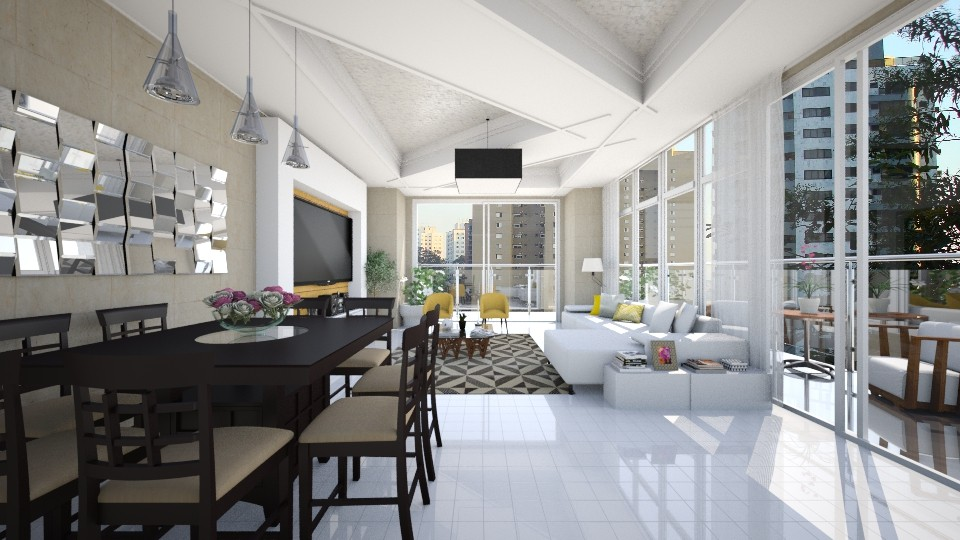 Apt - Living room - by Roberta Coelho
