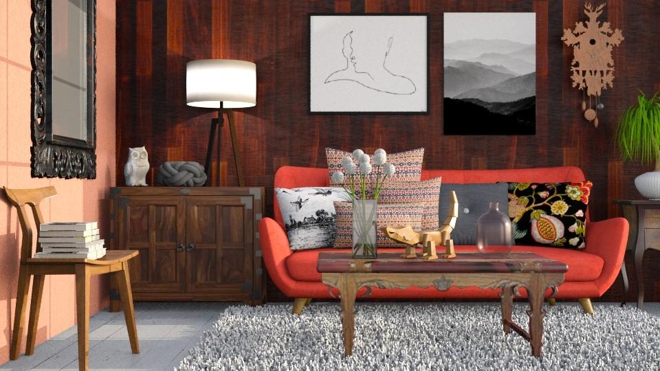Peach - Living room - by Liu Kovac