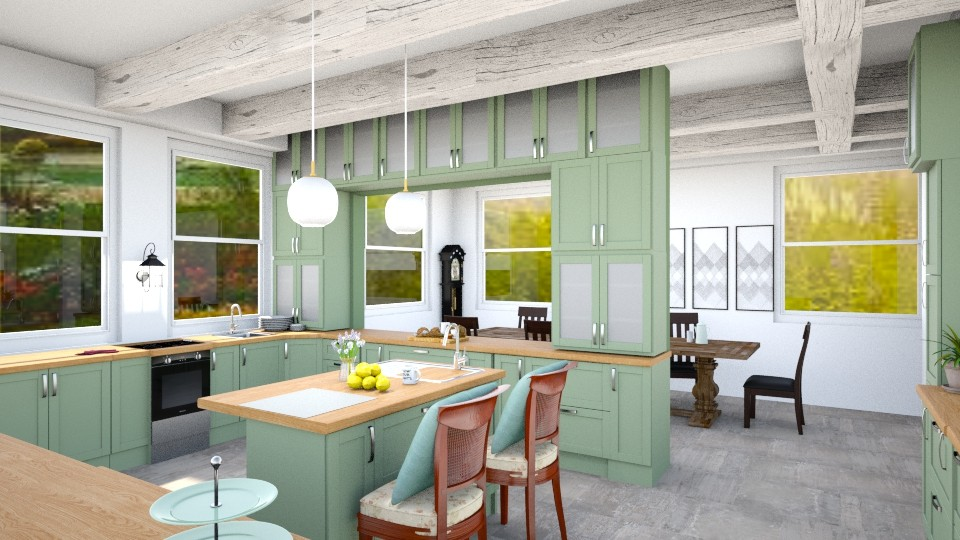 America Farmhouse Kitchen - by Yemascus