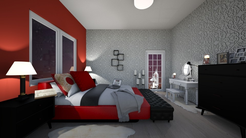 Red bedroom - by oldzi92