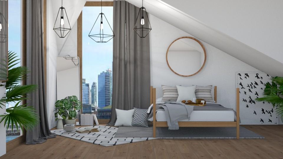 modern attic - Modern - Bedroom - by NEVERQUITDESIGNIT