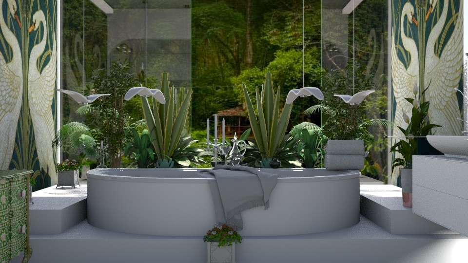 Jungle and white elegance - Bathroom - by marocco