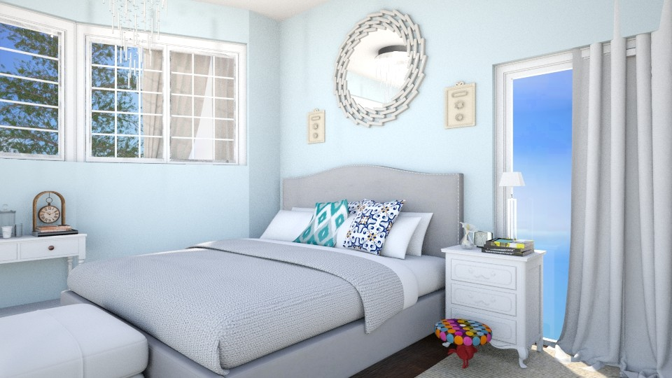 Blue and Bold - Bedroom - by Yemascus
