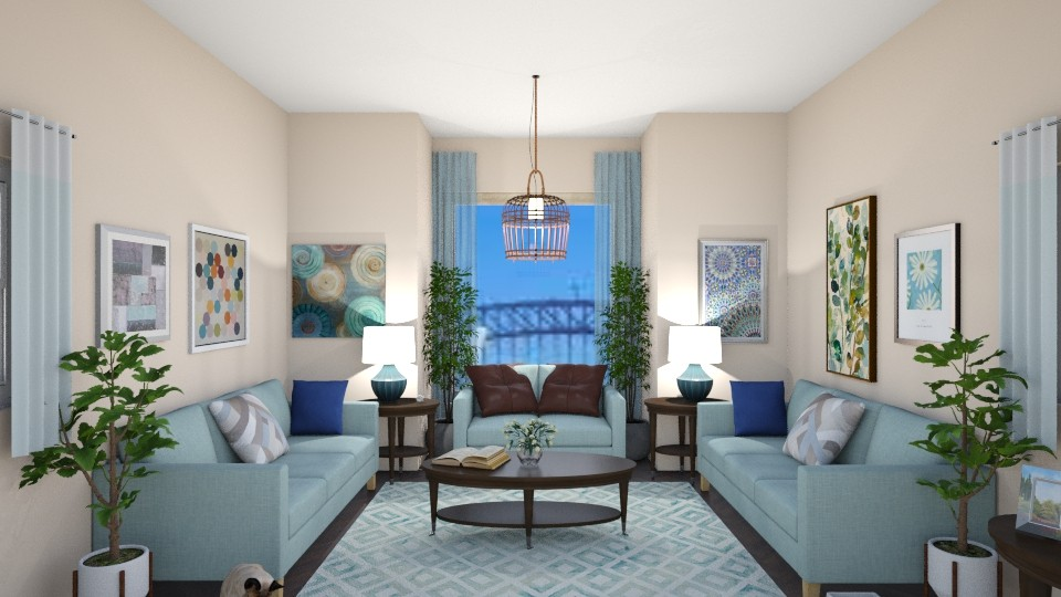 Blue Beige - Living room - by Lori Hallman Douglas_763
