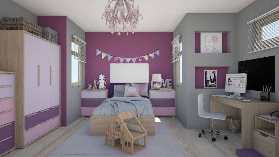 purple dream - Kids room - by bohdalkovakata