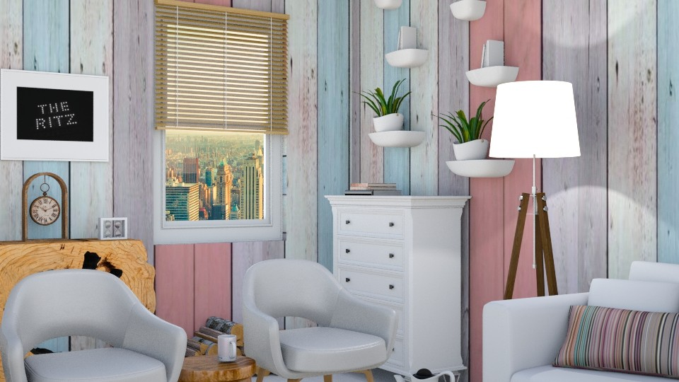 wood zoom 2 - Living room - by wafaabdi