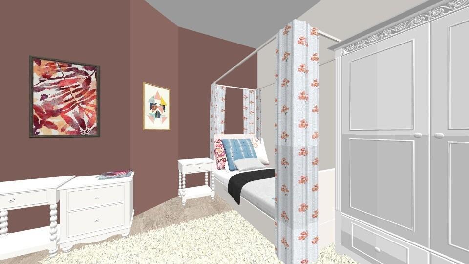Pink Single Bedroom - Bedroom - by Arisennaraxe