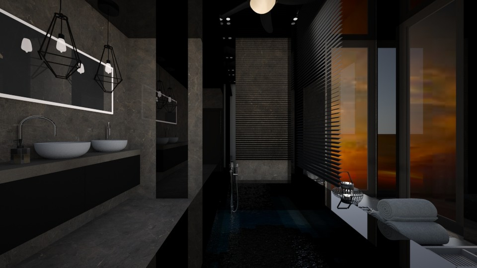 dark bath - Bathroom - by norcska