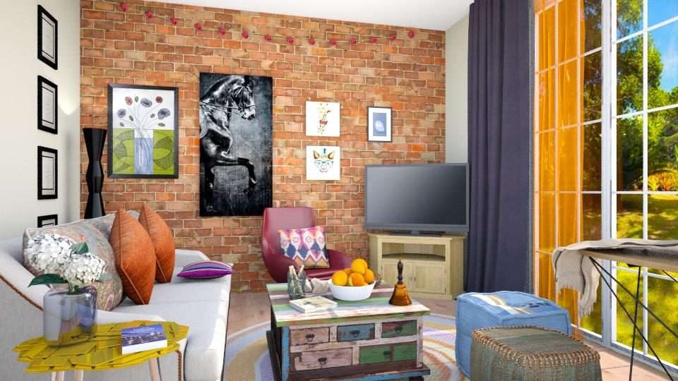 students room - Living room - by Inokentijroom