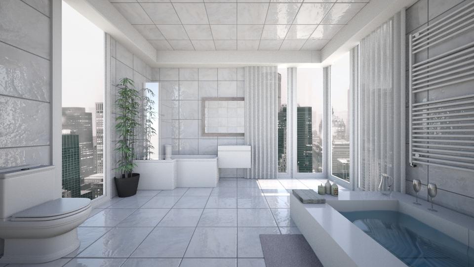Urban Luxury Bathroom - by AnnaMull