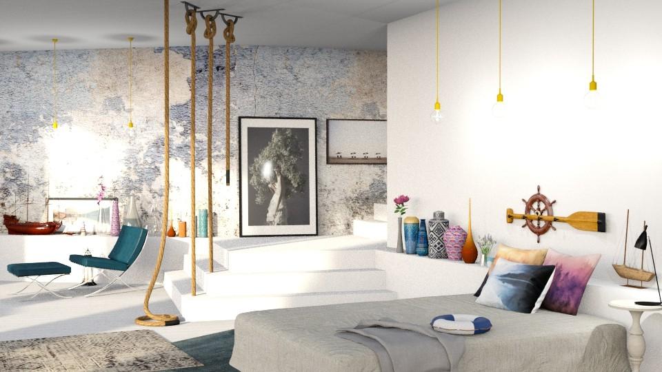 nautical bedroom - Bedroom - by bnu