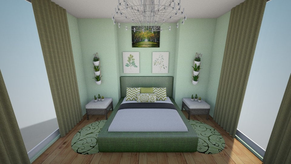 Green oasis - Bedroom - by Natalia Widuch