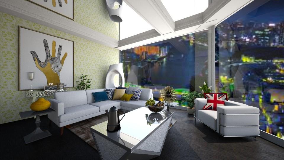 city and the living room - Living room - by Jean Paul Gallardo