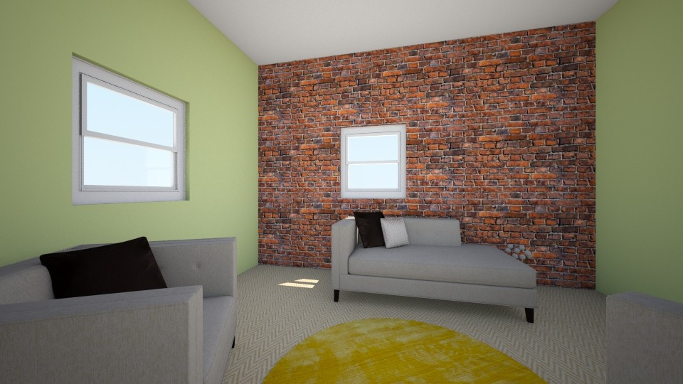 sala - Living room - by clasesytutorias