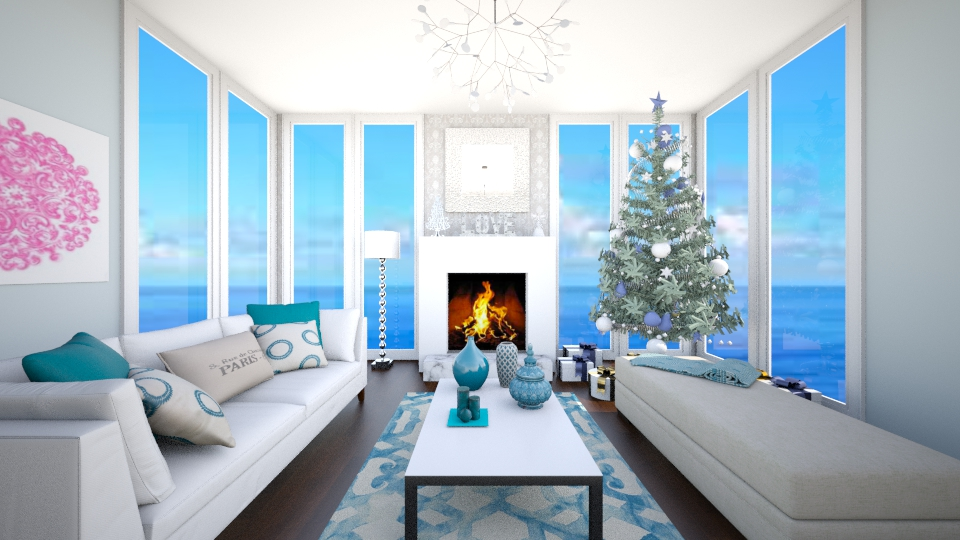 Christmas at the Beach - Living room - by jessicabaucke