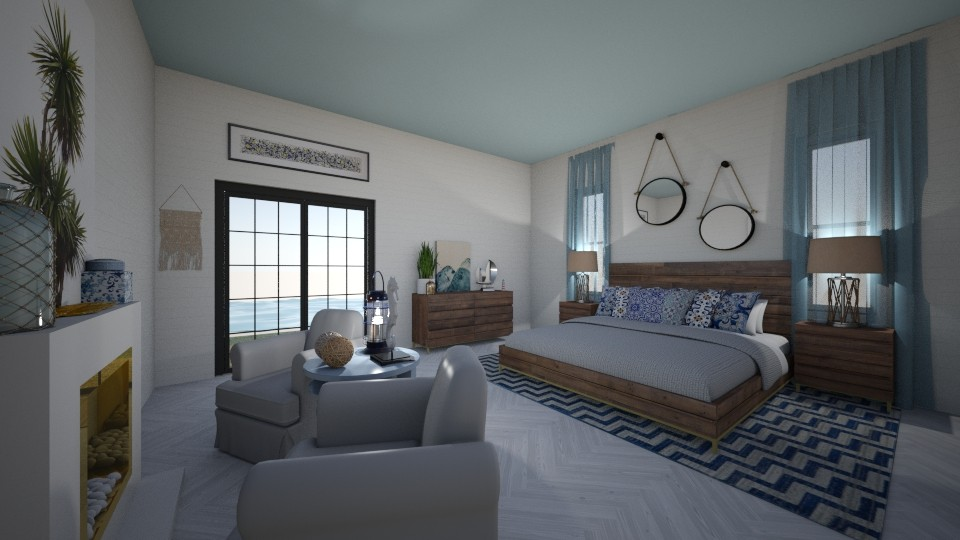 beach - Bedroom - by amybranco