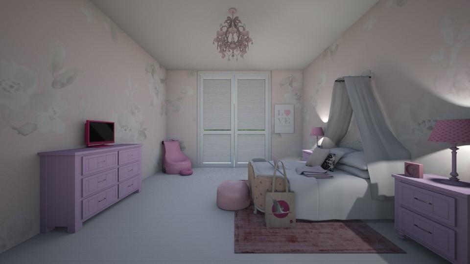 Pink Girls Bedroom - by Sope12367