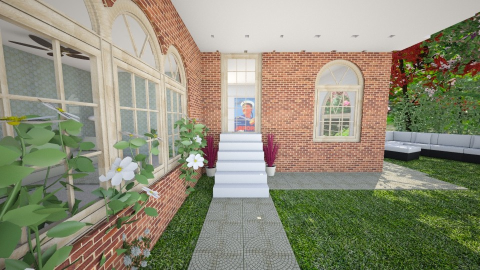 All brick house - Garden - by millymoo1