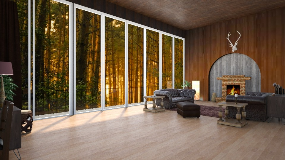 Forest Home - Classic - Living room - by Yana_Arsenyuk