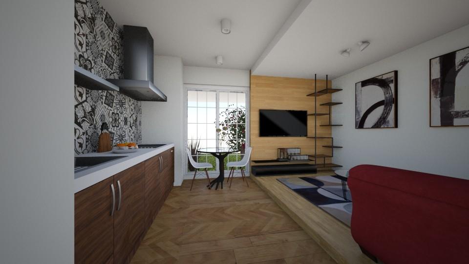studio apartment - Modern - Living room - by Evelina22