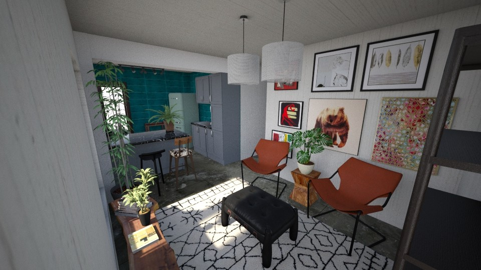 casa do gabriel sala - Living room - by jupitervasconcelos