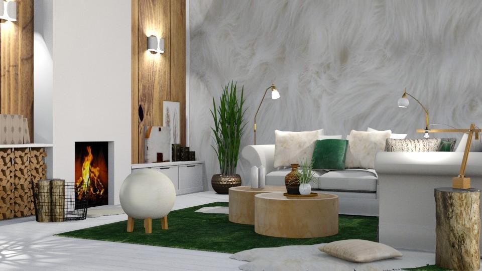 sheep in meadow - Living room - by jagwas