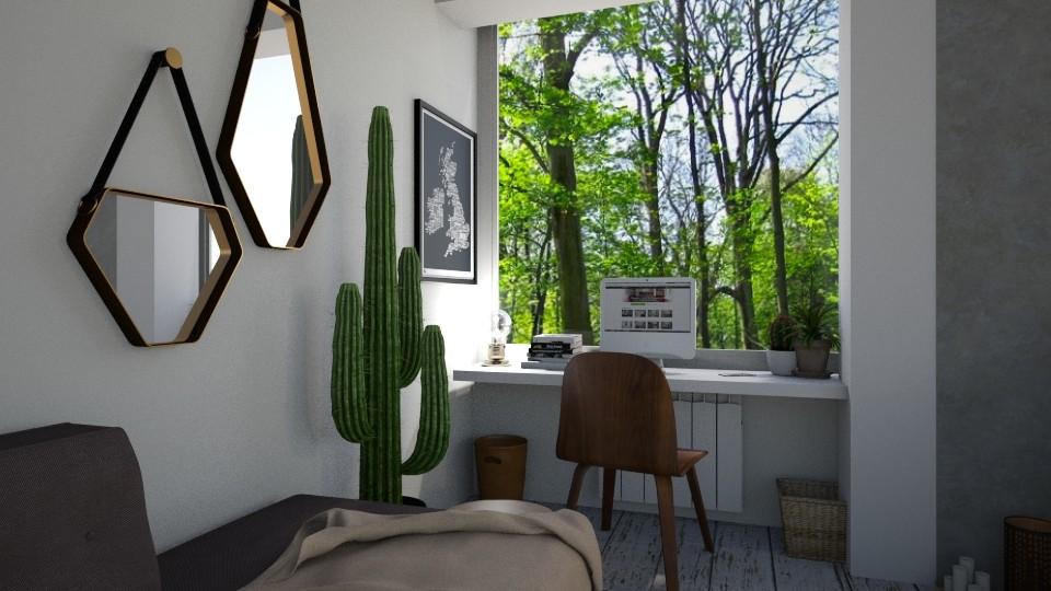 bohemian bedroom corner - by zabarra