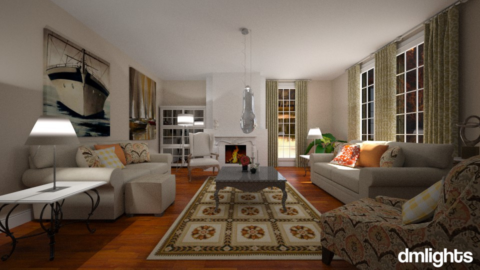 Classic Living - Living room - by DMLights-user-982019