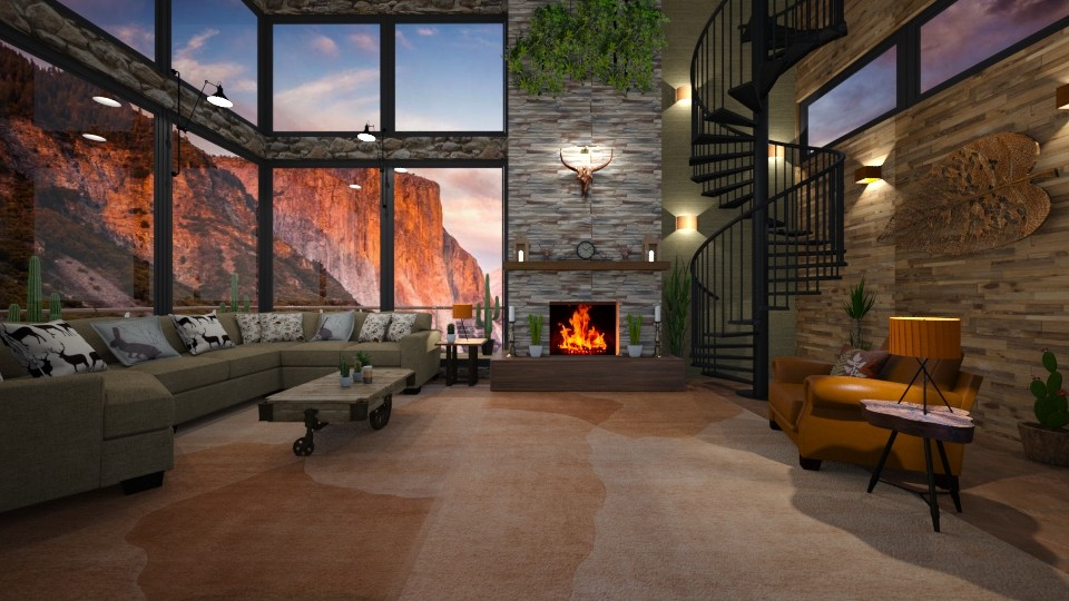 Canyon Inspired - Living room - by  krc60