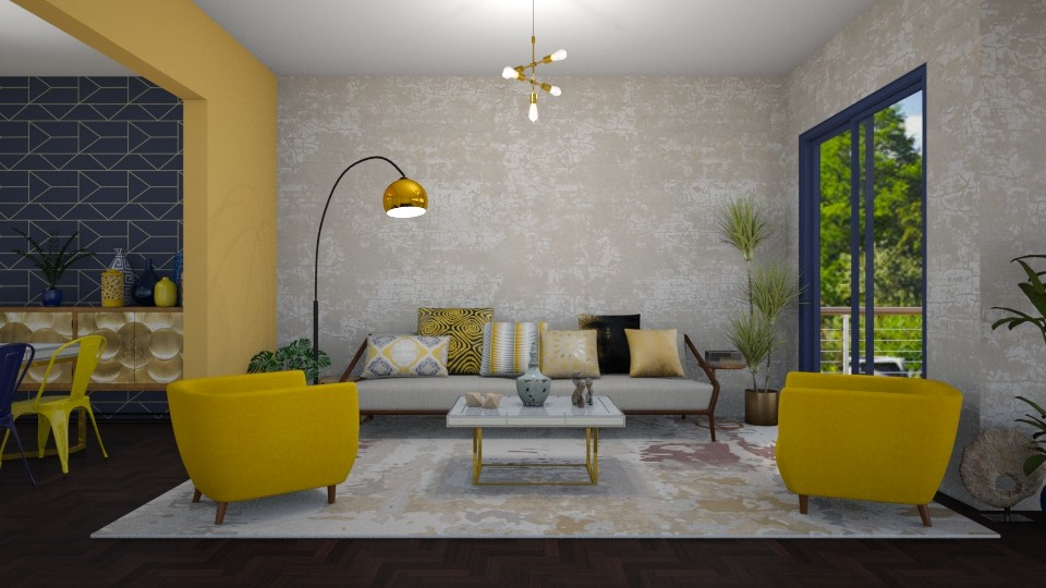 Yellow accents - Living room - by martinabb