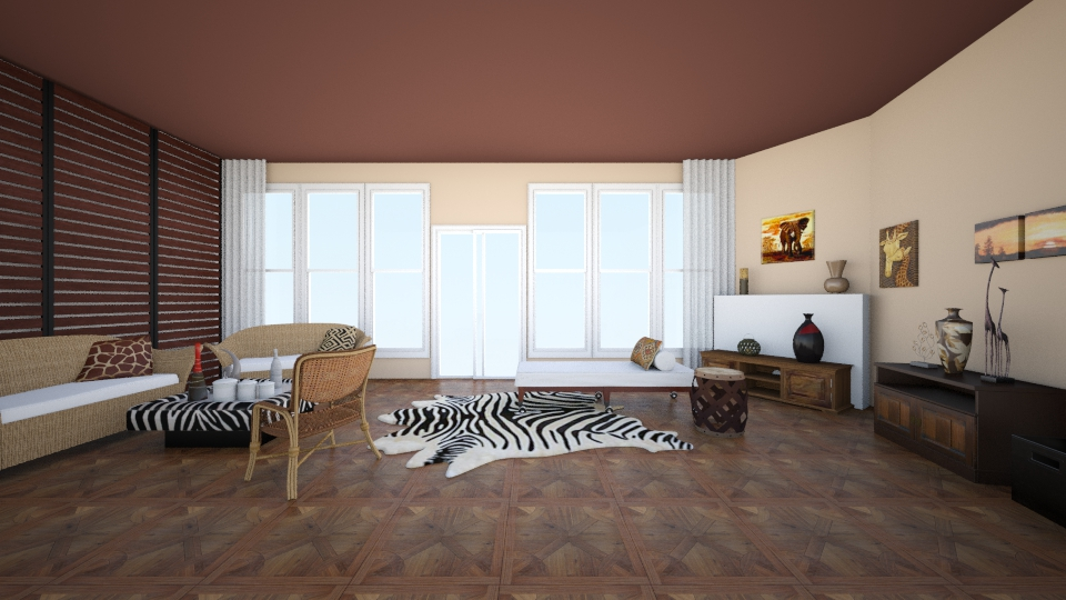 African Design - Living room - by Larise