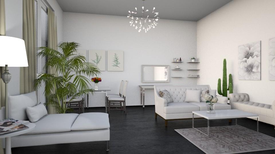 White - Living room - by dorota_k