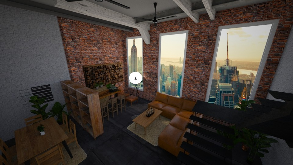 Industrial loft - Masculine - Living room - by kristianvalchev