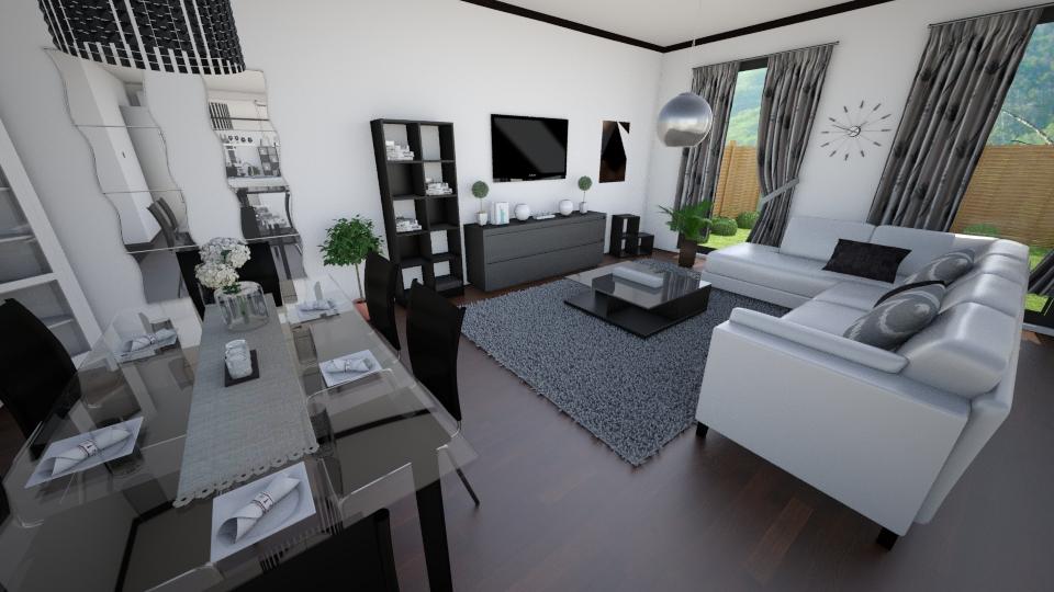 Modernity - Living room - by sz_evelyn19