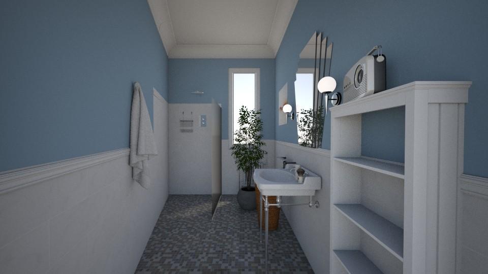 Salle de bain V2 - Retro - Bathroom - by Lu Do