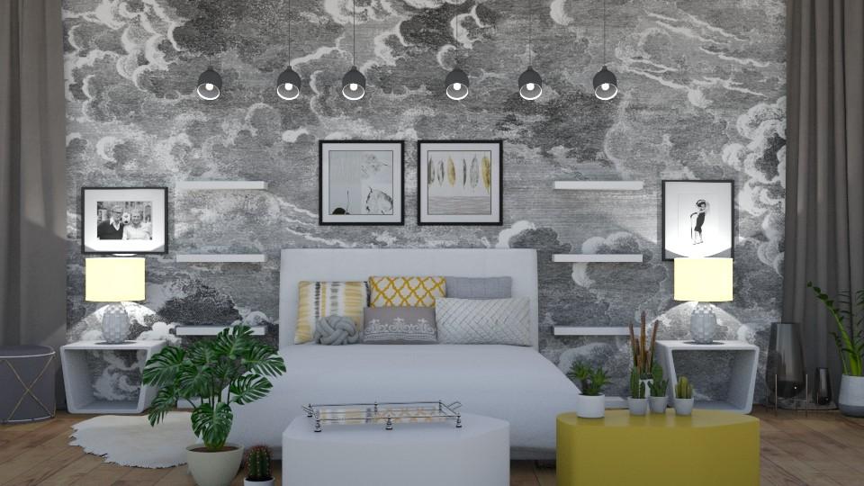 Yellowish Bedroom - Bedroom - by LaughingDonut