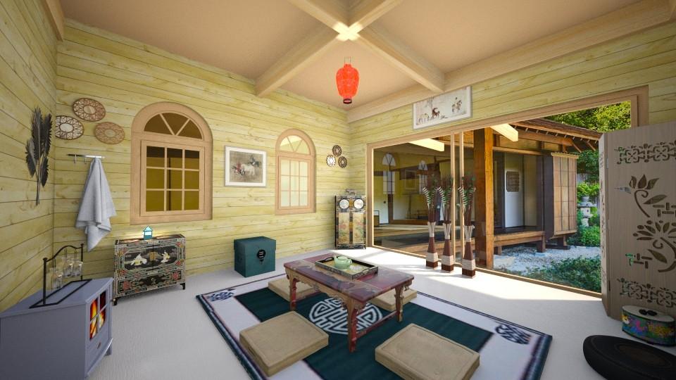 japanese design - Vintage - Living room - by zayneb_17