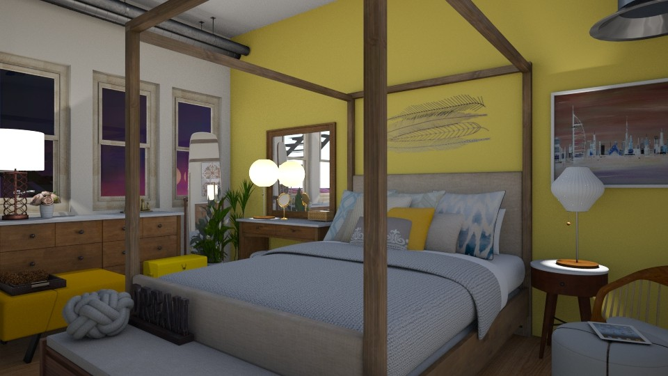 A Little Bit of Color - Bedroom - by _PeaceLady_