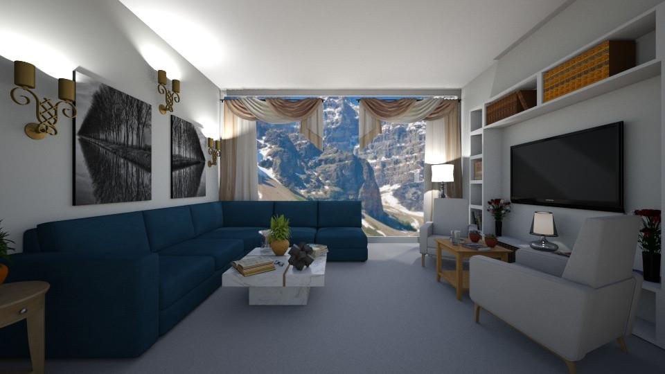 living room beauty - by __Nikoletta__