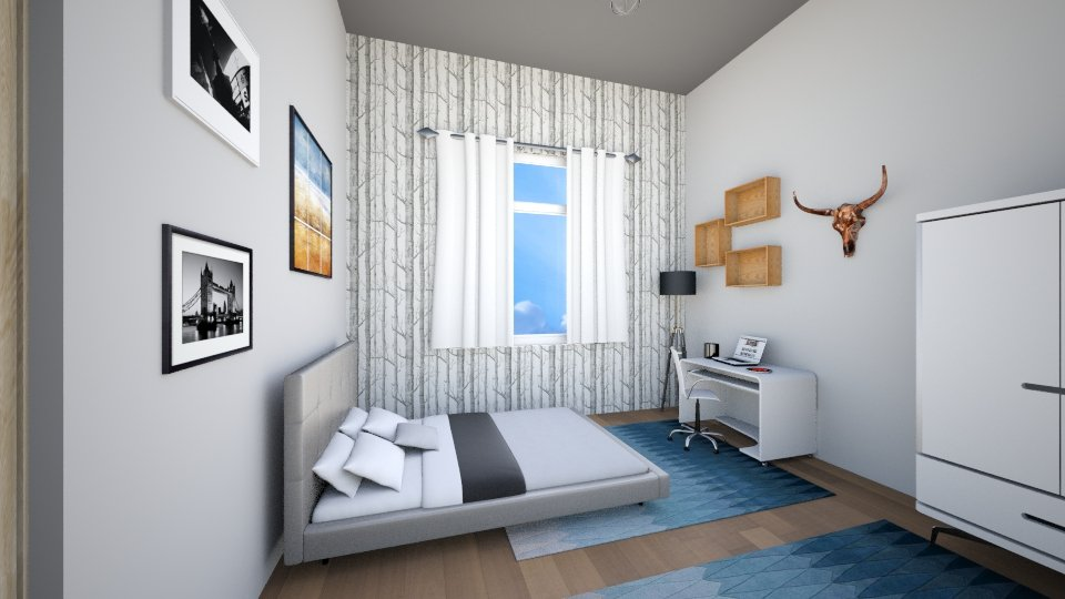 Modern_Scandinavian  - Bedroom - by percy8