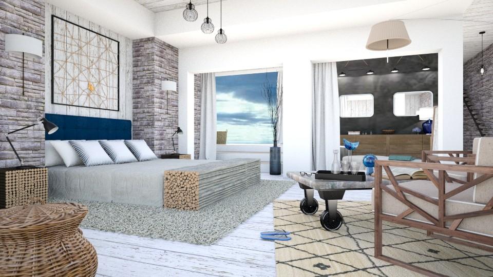 Bleu - Bedroom - by Artichoses