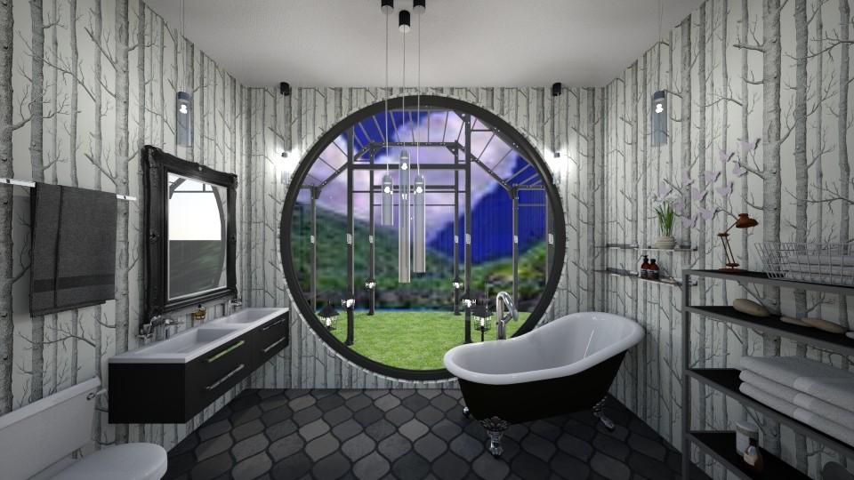 B for bath  - Bathroom - by Karen Priest